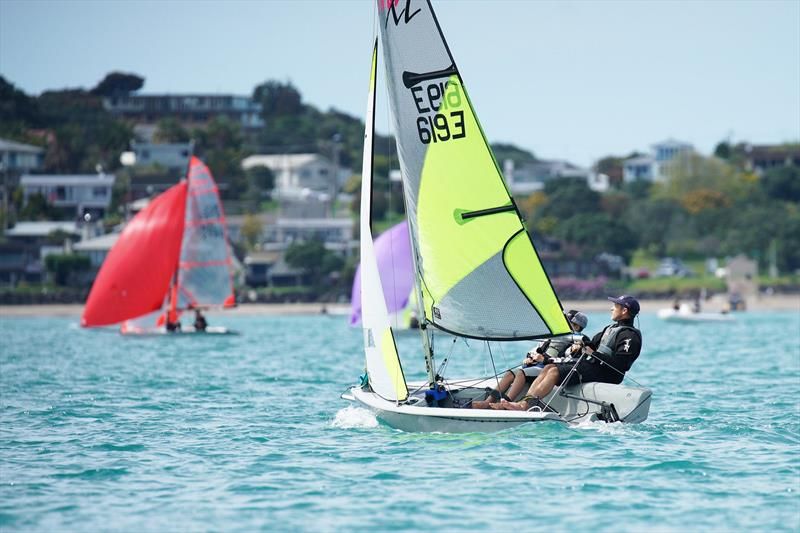 Simon and Ashton Cooke - RS Feva North Island Championships - Manly Sailing Club, October 2019 - photo © Manly Sailing Club