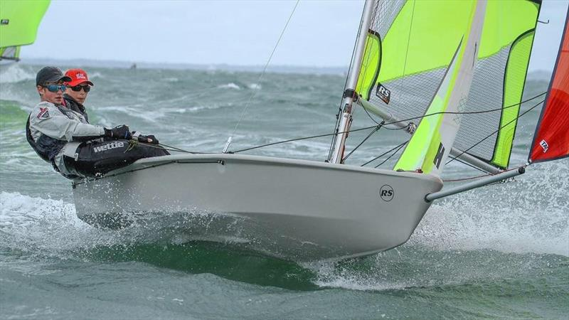 Onshore breezes provide plenty of exciting rides 2019 RS Feva Nationals  Torbay SC, Auckland  - photo © Richard Gladwell / Sail-World.com