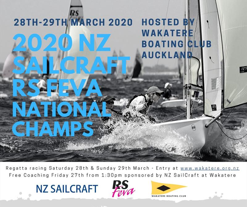 2020 RS Feva Nationals will be held at Wakatere Boating Club on 28th and 29th of March. - photo © NZ Sailcraft