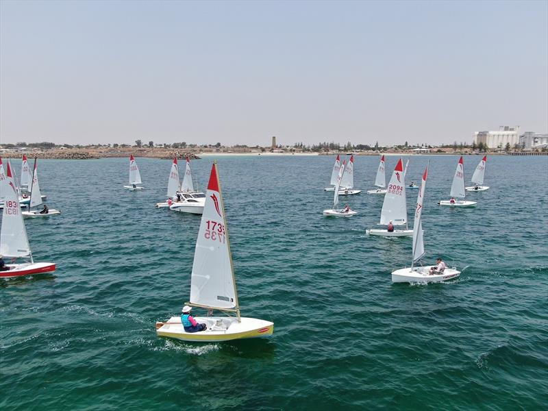 Yesterday's racing was challenging with light winds - 2020 Sabre National Championship photo copyright Harry Fisher taken at Wallaroo Sailing Club and featuring the Sabre class