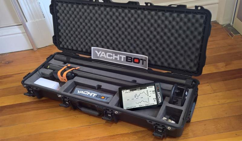 Yotbot packed away in a convenient carrying case read for the next regatta - photo © Yachtbot