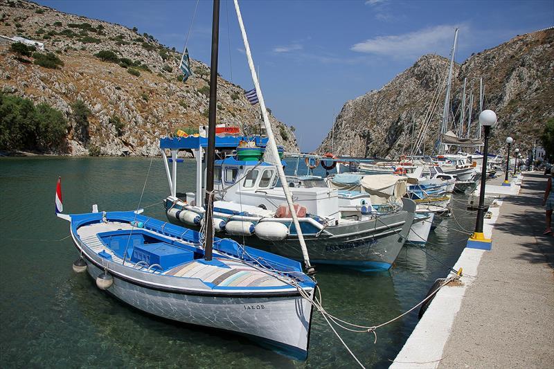 Fishing boats at Varthis, Kalymnos, Greece - photo © Richard Gladwell