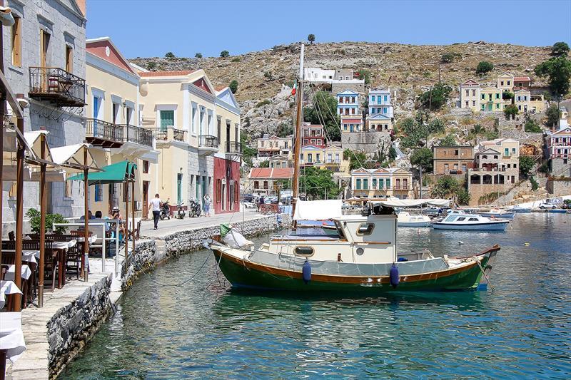 Harbour at Symi, Greece - photo © Richard Gladwell