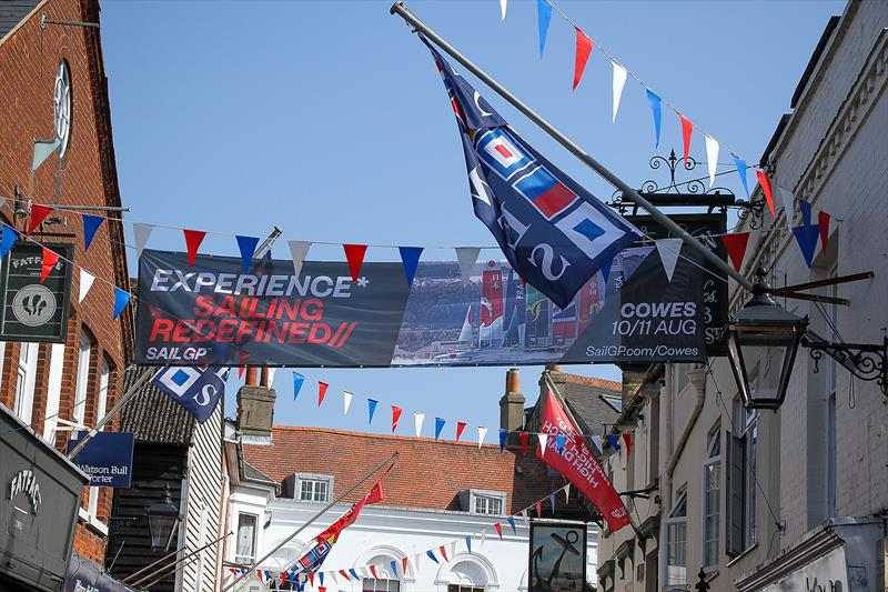 Cowes prepares for the arrival of SailGP in less than a month's time. - photo © Richard Gladwell, Sail World NZ