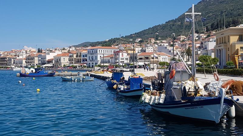 Fishing fleet around the quay at Samos town. - photo © Richard Gladwell
