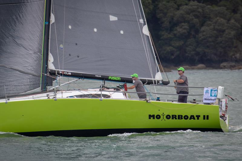 Motorboat pictured at the start of the RNZ2019. She is also entered in the 2020 Evolution Sails RNI. - photo © Deborah Williams