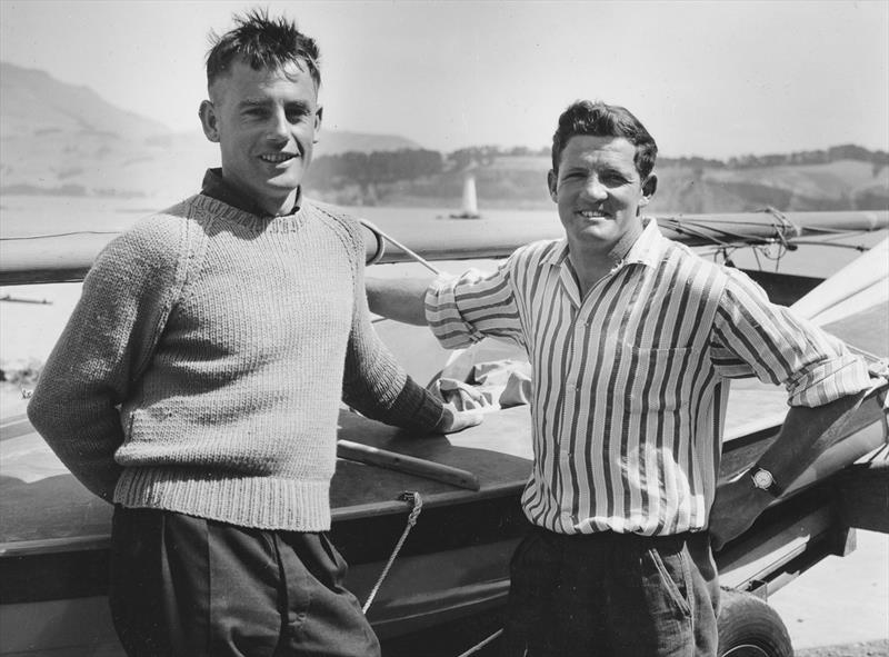 Graham Mander and Andy Holland R Class - photo © Mander Family Archives