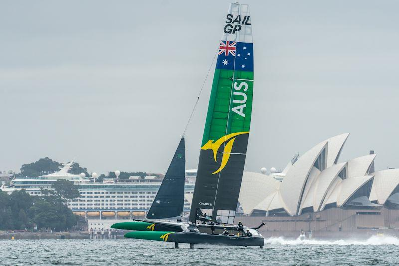 Australia's SailGP Team testing their F50 on Sydney Harbour for the first time - photo © Beau Outteridge