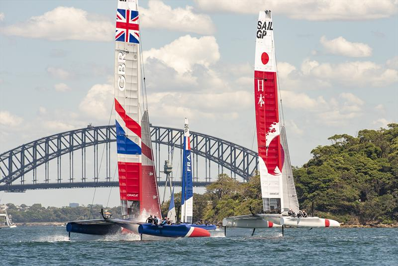 SailGP Practice race day. SailGP GBR Team and SailGP Japan Team. - photo © © Chris Cameron / SailGP