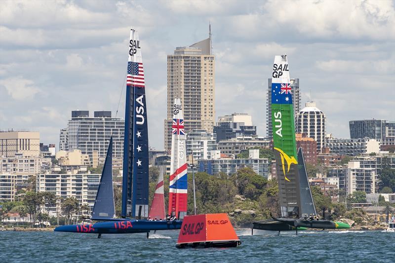 SailGP Practice race day. SailGP USA SailGP GBR Team, Team and SailGP Australia Team. - photo © SailGP Communications