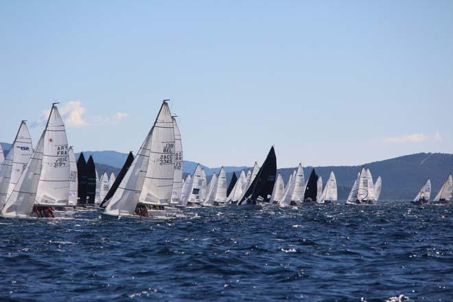 90 boat start at the Audi Sb20 World Championships 2013 © Katie Jackson/SB20 Class
