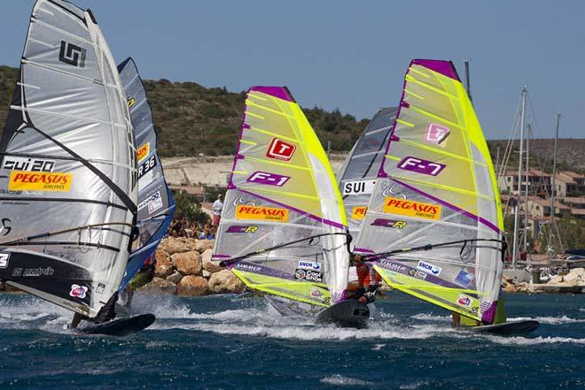 Moussilmanis at the mark - PWA Alacati World Cup 2012 ©  John Carter / PWA http://www.pwaworldtour.com