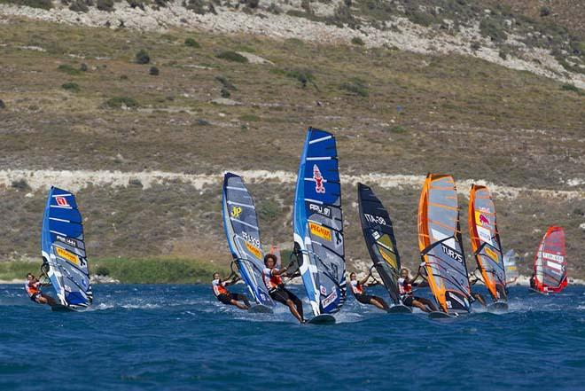 Sarah Quita leads the way - PWA Alacati World Cup 2012 ©  John Carter / PWA http://www.pwaworldtour.com