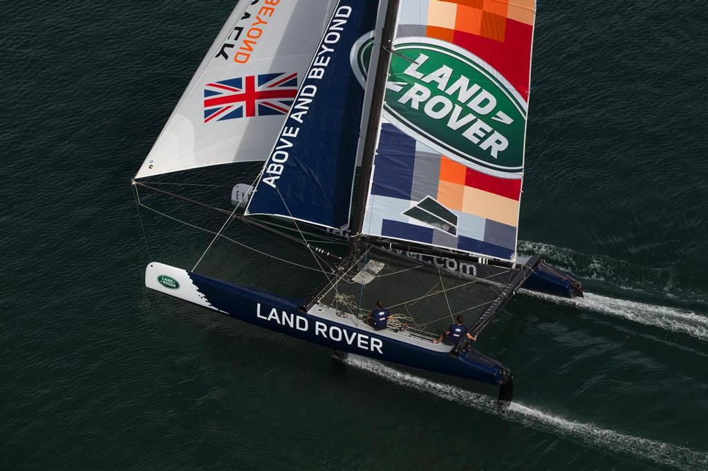 The Land Rover Extreme 40 will race for the first time in Cardiff, supporting a predominantly Welsh youth team © Lloyd Images http://lloydimagesgallery.photoshelter.com/