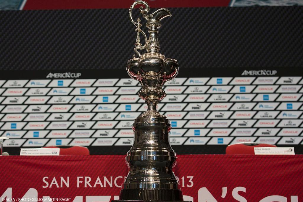 05/09/2013 - San Francisco (USA,CA) - 34th America's Cup - Final Match - Opening Press conference - The America's Cup Trophy © ACEA - Photo Gilles Martin-Raget http://photo.americascup.com/