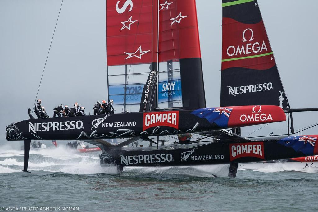 Emirates Team NZ, Louis Vuitton Cup Final Day 2 © ACEA / Photo Abner Kingman http://photo.americascup.com