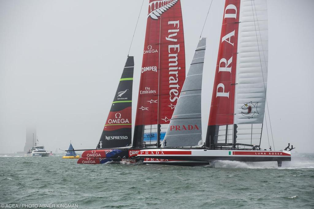 Pre-Start, Louis Vuitton Cup Final Day 2 © ACEA / Photo Abner Kingman http://photo.americascup.com