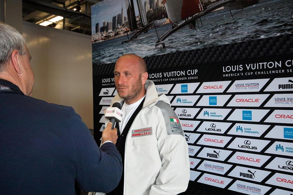 Max Sirena - Louis Vuitton Cup Final Media Conference, August 15, 2013 © Chuck Lantz http://www.ChuckLantz.com