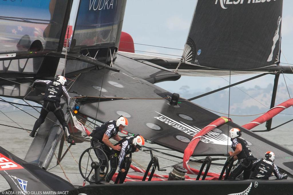 Louis Vuitton Cup Final, Day 7, Emirates Team New Zealand Vs Luna Rossa © ACEA - Photo Gilles Martin-Raget http://photo.americascup.com/