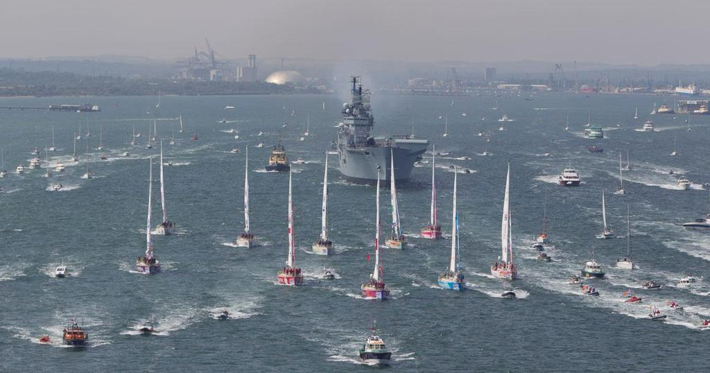 HMS Illustrious and fleet at Clipper 11-12 Race Start © onEdition http://www.onEdition.com