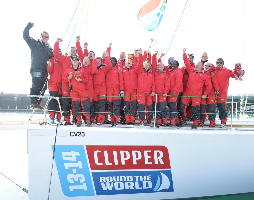 Rich Gould and Invest Africa celebrate  © Clipper Ventures PLC . http://www.clipperroundtheworld.com