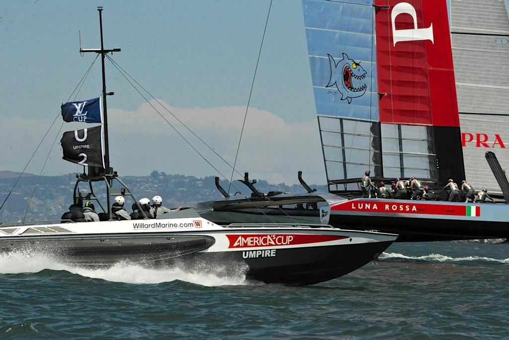 Match Race 5 of the Louis Vuitton Cup on August 21, 2013 in San Francisco California. ©  SW
