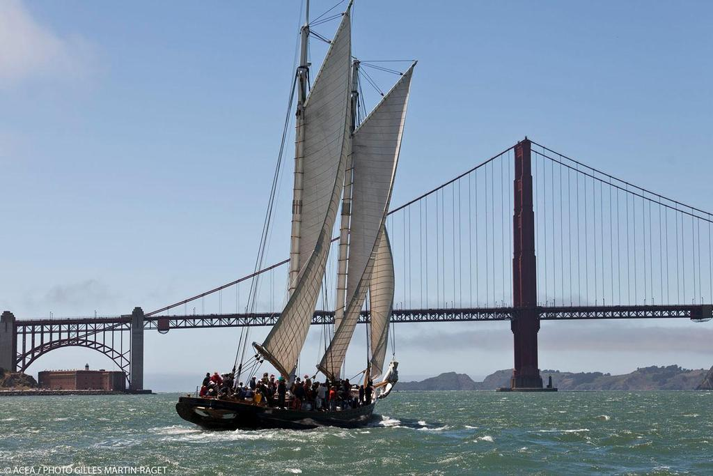 34th America's Cup -  America schooner replica sails in San Francisco Bay © ACEA - Photo Gilles Martin-Raget http://photo.americascup.com/