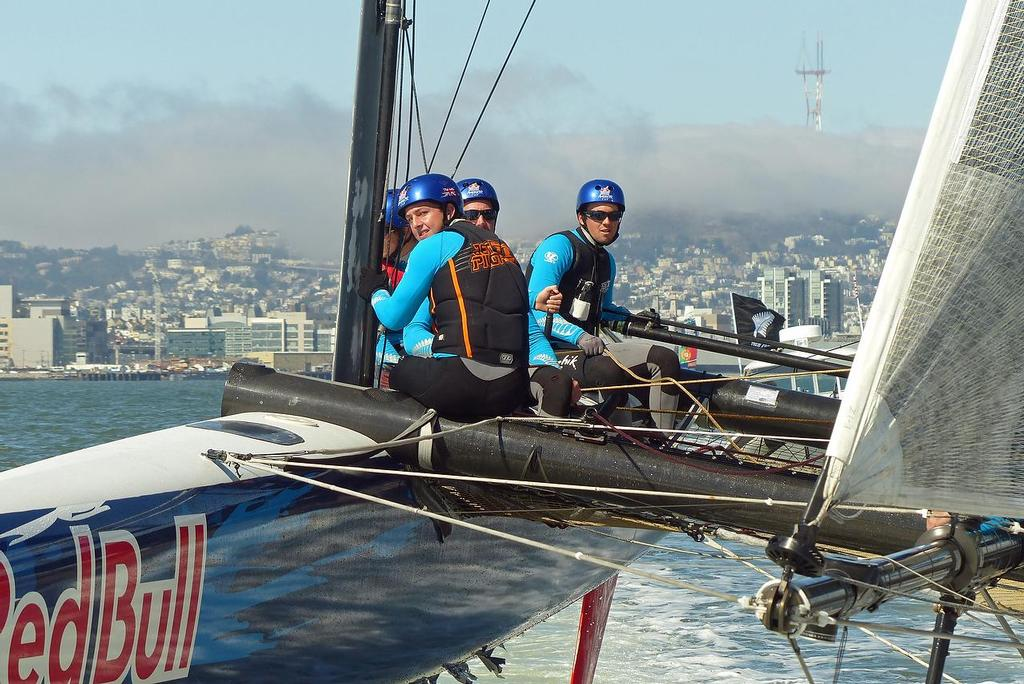 Will Tiller - Red Bull Youth America's Cup - Training August 16, 2013 - Kaenon Team © John Navas