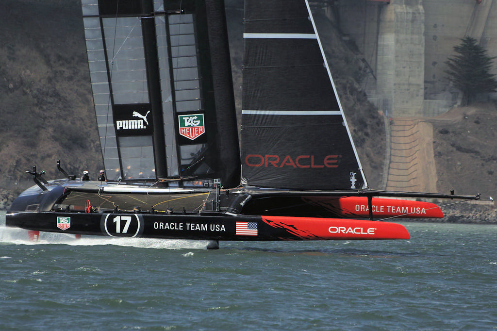 Oracle starts a high-speed pass - America's Cup © Chuck Lantz http://www.ChuckLantz.com