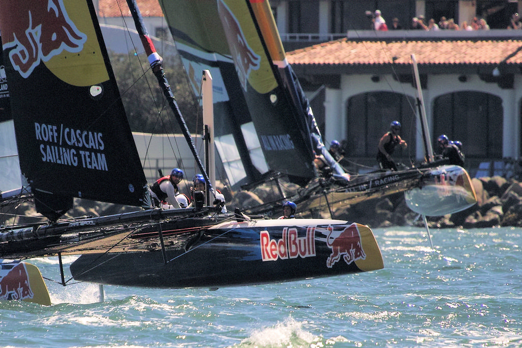 Team Roff-Cascais of Portugal leads Germany's All In racing around a mark - Youth AC © Chuck Lantz http://www.ChuckLantz.com