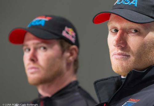 James Spithill (AUS) and Tom Slingsby (AUS) - Oracle Team USA <br />  &copy; Carlo Borlenghi/Luna Rossa http://www.lunarossachallenge.com