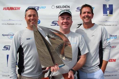 SB20 Grand Slam Winners left to right Richard Lovering, Jerry Hill, Craig Spike Watson © Katie Jackson