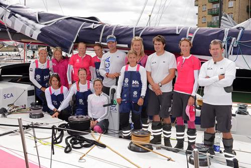 Team SCA at the start of the Rolex Fastnet Race 2013 Sunday August 11 2013 ©  Rick Tomlinson http://www.rick-tomlinson.com