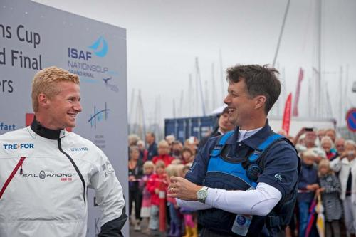 Crown Prince Frederik of Denmark and Nicolai Sehested share a joke after their match. © Seaclear Communications http://www.seaclearcommunications.com/