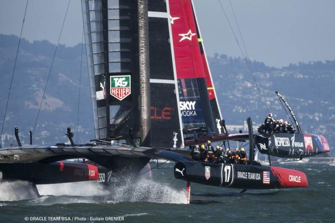 Oracle team USA in action at the 2013 34th America's cup © Oracle team racing