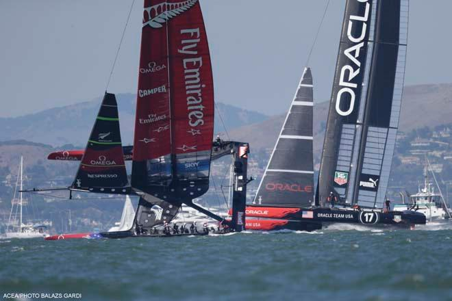 14/09/2013 - San Francisco (USA,CA) - 34th America's Cup - ORACLE Team USA vs Emirates Team New Zealand, Race Day 5 ©  ACEA / Photo Balazs Gardi http://www.americascup.com/