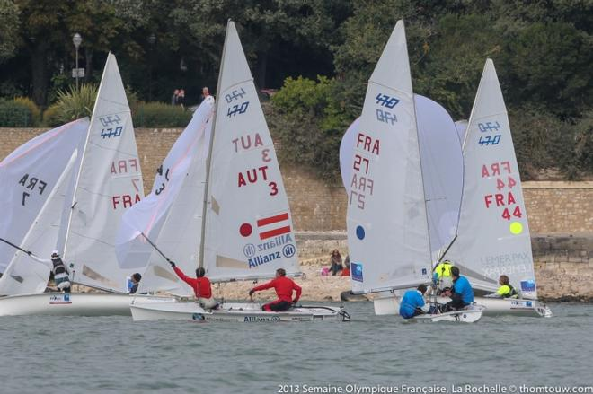 Semaine Olympique Francaise Day 5 - Fleet in action © Thom Touw http://www.thomtouw.com