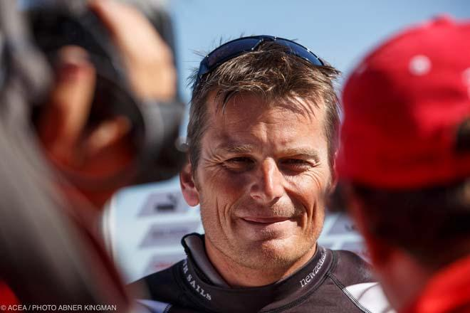 Dean Barker,  Emirates Team New Zealand © ACEA / Photo Abner Kingman http://photo.americascup.com