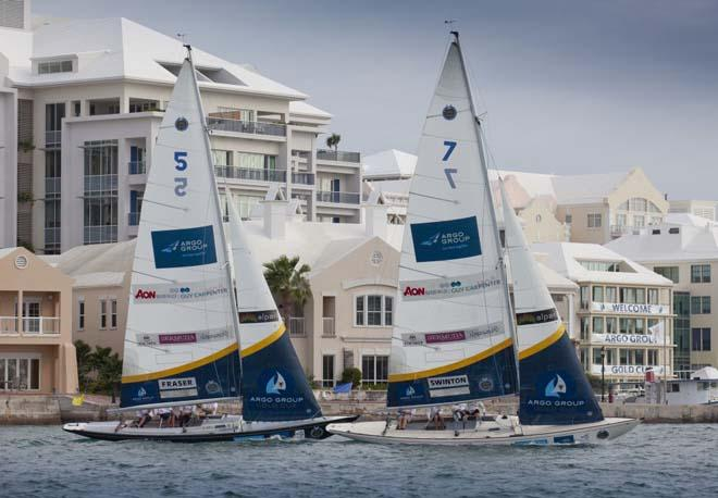 Digicel Business Match Racing and Black Swan Racing at the Argo Group Gold Cup, Bermuda, part of the Alpari World Match Racing Tour.<br />  &copy;  OnEdition / WMRT http://wmrt.com/