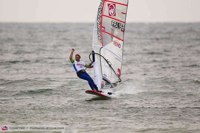 Albeau moves into the lead - 2013 PWA Sylt World Cup ©  John Carter / PWA http://www.pwaworldtour.com