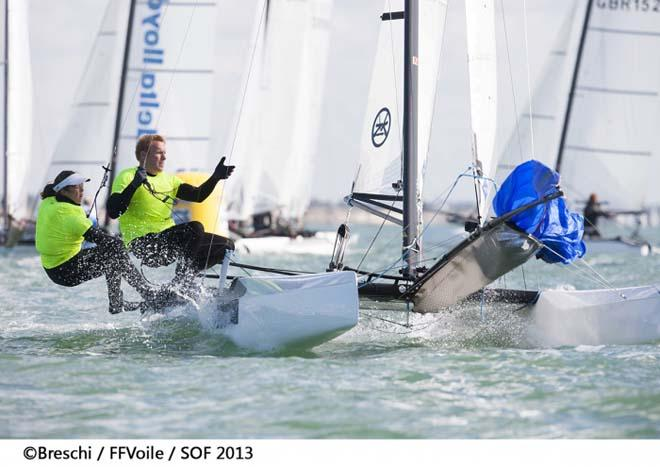 2013 Semaine Olympique Francaise - Audrey Ogereau and Mattheiu Vandame (FRA) ©  Breschi / FFVoile / SOF 2013 http://sof.ffvoile.com/
