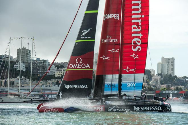 Emirates Team New Zealand fly back to the base after racing was canceled as  the wind e0ff83b9c703
