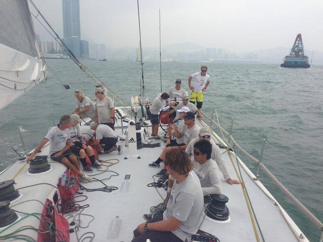 Crew setlle in pre-start - at the Audi Hong Kong to Vietnam Race © Team Ragamuffin https://www.facebook.com/RagamuffinYachting