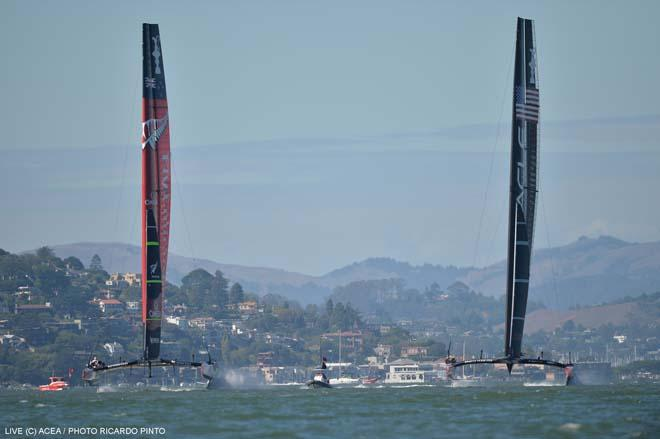 22/09/2013 - San Francisco (USA,CA) - 34th America's Cup - Oracle Team USA vs Emirates Team New Zealand, Race Day 12 © ACEA / Ricardo Pinto http://photo.americascup.com/