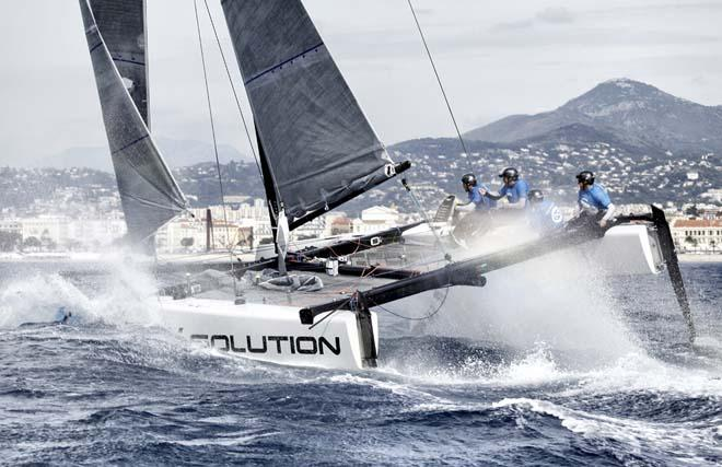 GC32s showcased at Extreme Sailing Series in Nice © Christophe Launay