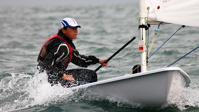 Leading the way in the Laser Radial is Tatiana Drozdovskaya (BLR) © ISAF