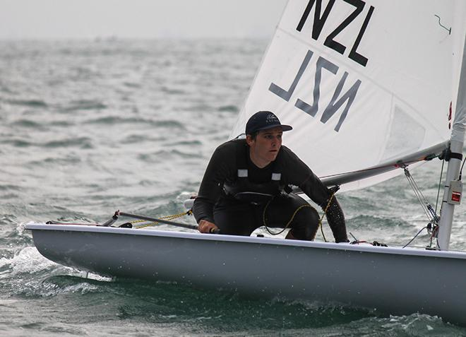 New Zealand's Thomas Saunders is in contention in the Laser after day one © ISAF