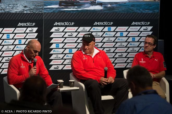25/09/13 - San Francisco (USA,CA) - 34th America's Cup - Final Match - Day 15 - Morning media briefing with Stephen Barclay and Iain Murray © ACEA / Ricardo Pinto http://photo.americascup.com/
