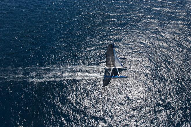 Team Australia, Sean Langman's giant ORMA 60 trimaran with a crew of 6 attempting to break the record Sydney to Auckland ©  Andrea Francolini Photography http://www.afrancolini.com/