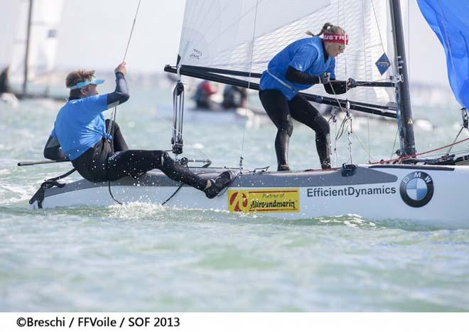 2013 Semaine Olympique Francaise - Thomas Zajac and Tanja Frank (AUT) ©  Breschi / FFVoile / SOF 2013 http://sof.ffvoile.com/